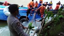 Penampakan Bus Sriwijaya yang Masuk Jurang Sedalam 75 Meter