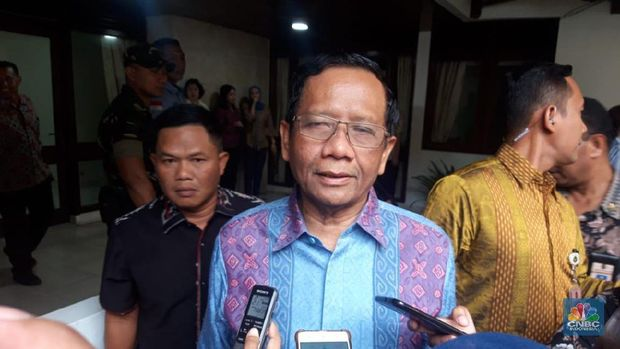 Menko Polhukam Mahfud MD (CNBC Indonesia/Cantika Dinda)