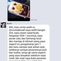 Lihat Salad Buah Berantakan, Netizen : Hii Kayak Air Comberan