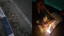 Dilempar Bunga hingga Tanah Kuburan, Warung Makan Ini Jadi Viral