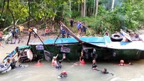 Pencarian Korban Bus Sriwijaya Disetop, Polisi: Saksi Bilang Sopir Ugal-ugalan