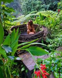 Kissa sangat menikmati waktu liburannya di tengah-tengah alam hijau nan asri Ubud. Hari ini adalah hari terbaik dalam hidupku, kata Kissa. (Instagram/@coyotelovesyou)