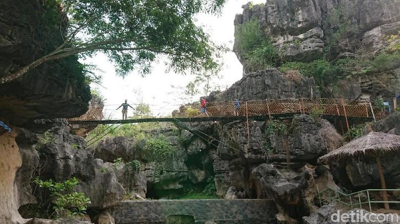 Wisata Ngerit Stone Park (NSP) di Desa Senden, Trenggalek (Adhar Muttaqin/detikcom)