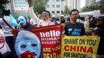 Kedubes China Digeruduk Massa Aksi Bela Muslim Uighur