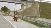 Biker yang Viral Ngebut di Tol Jombang-Mojokerto, Ini Penyebabnya