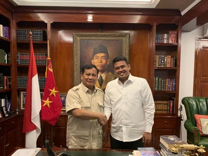 Prabowo Subianto Bertemu Bobby Nasution