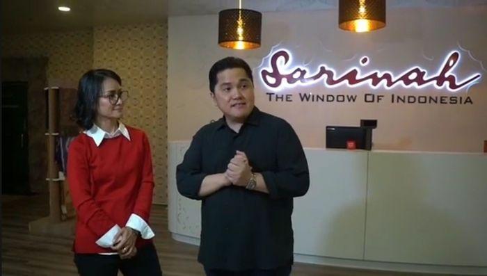 Erick menyatakan, meski sudah tua Sarinah masih punya potensi besar mengerek pengunjung, belum lagi kalau banyak turis datang ke Jakarta. (IG @erickthohir)