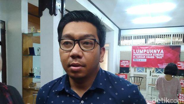 Peneliti ICW Kurnia Ramadana (Sachril Agustin Berutu/detikcom)