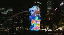 Potret Proyeksi Cahaya Hiasi Singapura Jelang Tahun Baru