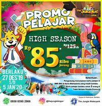Tahun Baruan, Ada Promo Pelajar di The Jungle Bogor