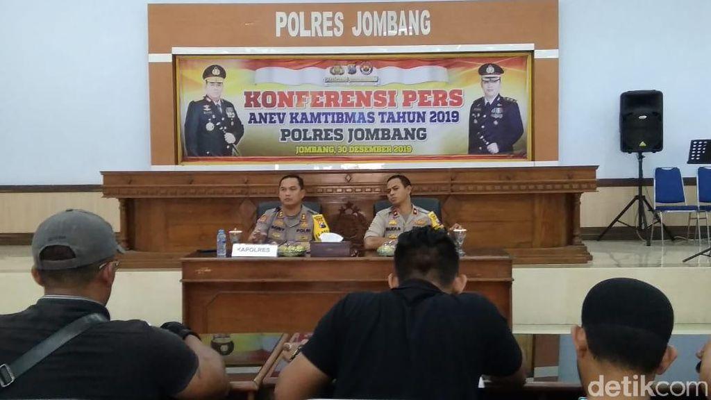 Polres Jombang Ungkap 775 Kasus Kejahatan dan Narkoba Sepanjang 2019