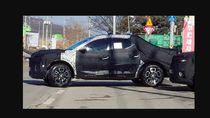 Dibungkus Kain Hitam, Ini Penampakan Calon Mobil Pikap Hyundai