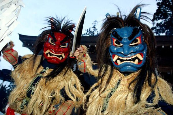 Jepang punya tradisi unik untuk menyambut tahun baru. Namanya adalah Festival Namahage yang diadakan di Oga, Prefektur Akita (Getty Images)