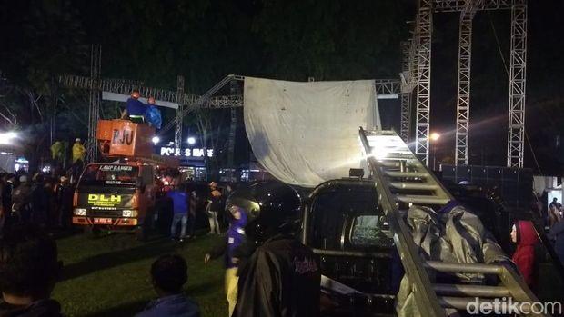 Begini Penampakan Panggung Pasha 'Ungu' yang Ambruk di Magelang