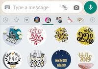 Cara Kirim Stiker WhatsApp Ucapan Tahun Baru