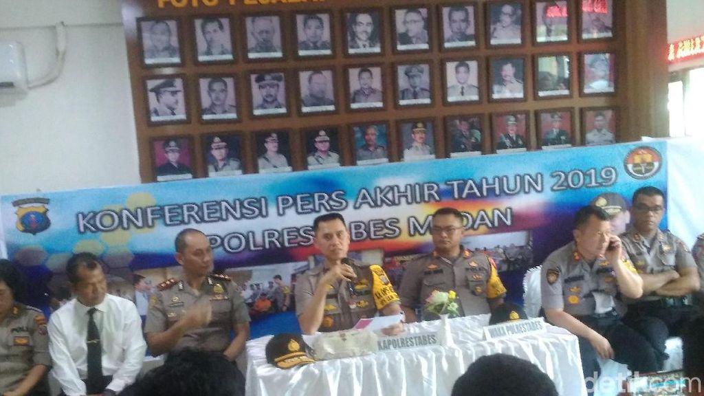 Polrestabes Medan Ungkap 5.645 Kasus Sepanjang 2019, Narkoba Tertinggi