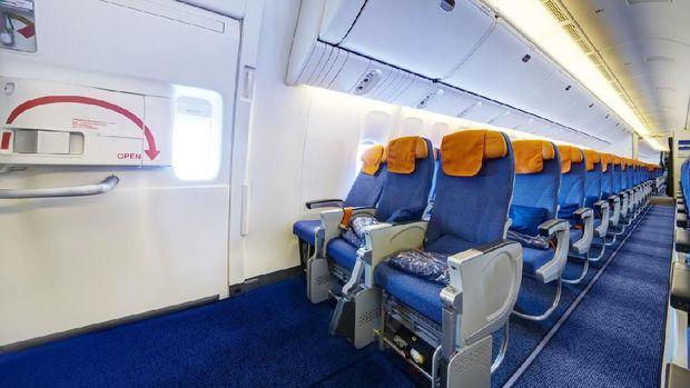Sudah Tahu Kenapa Kebanyakan Kursi Pesawat Berwarna Biru?