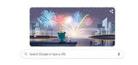 Google doodle bertema Tahun Baru 2020.