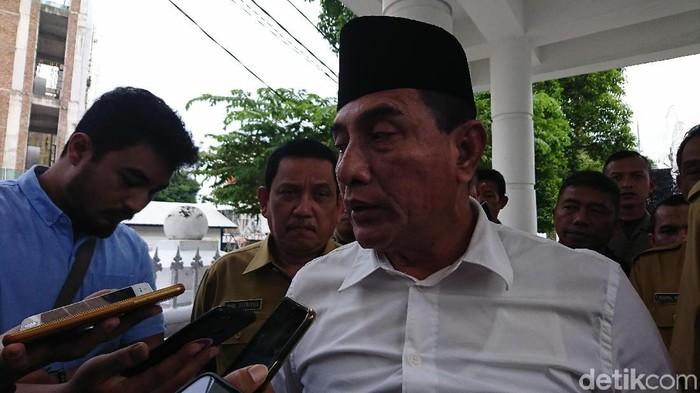 Gubernur Sumatera Utara Edy Rahmayadi. (Ahmad Arfah Fansuri Lubis/detikcom)