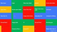 Google Trends Indonesia jelang malam Tahun Baru 2020.