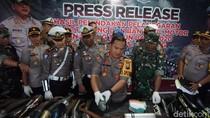 Puluhan Motor Knalpot Brong Gagal Dipakai Tahun Baruan di Jombang