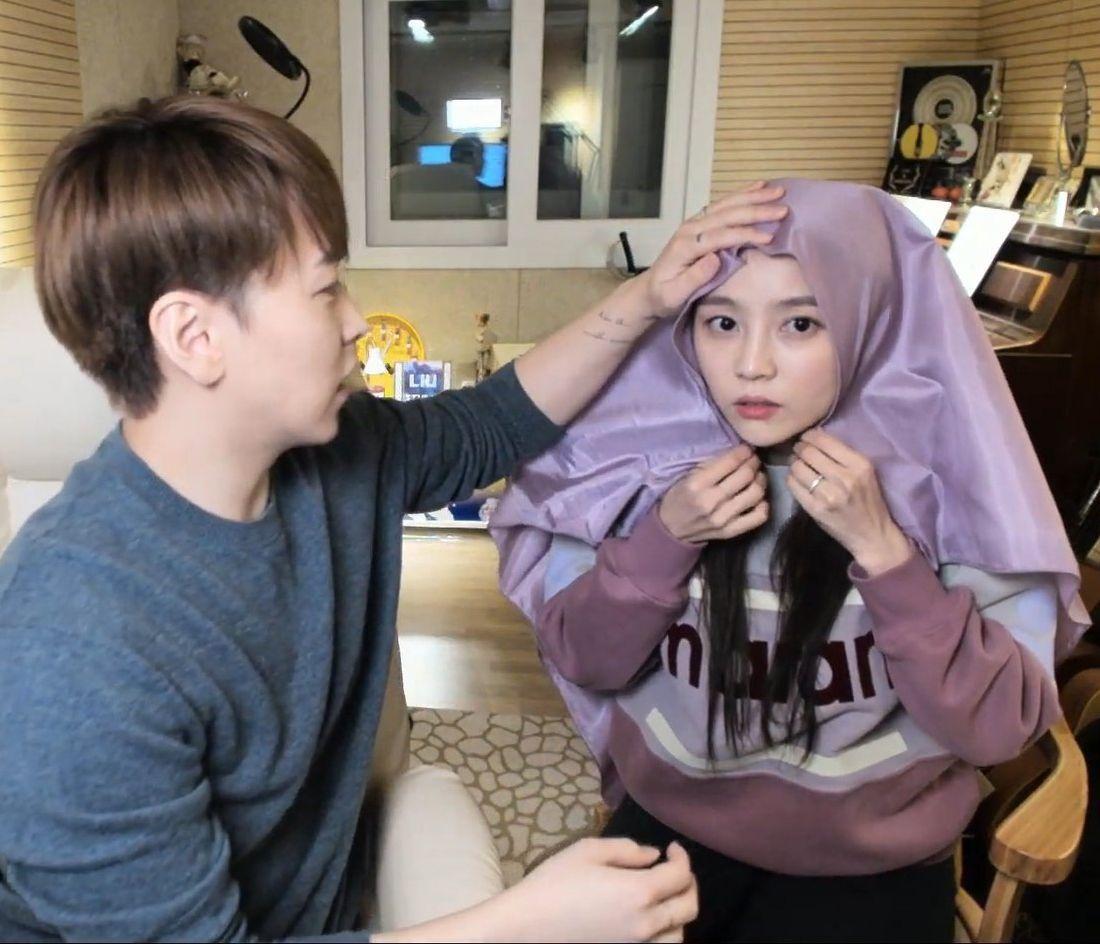 Istri Sungmin Suju pakai hijab