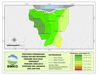 Ini Peta Prediksi Perubahan Iklim di Jakarta yang Bisa Jadi Banjir