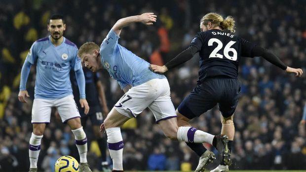 Hasil Liga Inggris: Man City Menang Tipis atas Everton