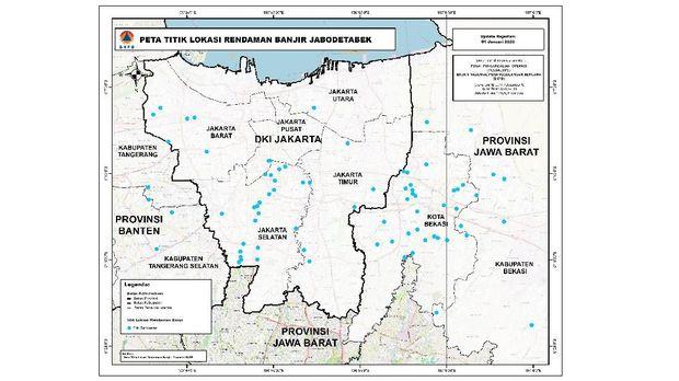 Peta Banjir Jakarta 2020