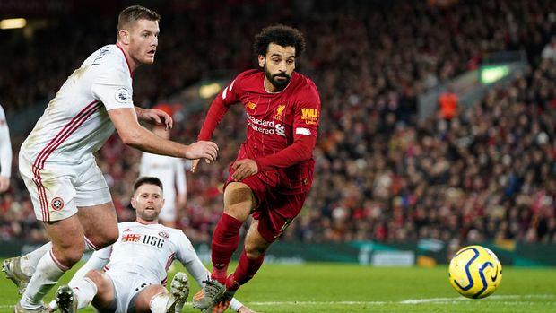 Mohamed Salah mencetak gol tercepat di Liverpool. (