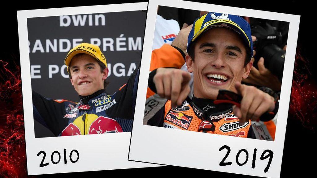 Bikin Pangling, Wajah Pebalap MotoGP Satu Dekade Lalu