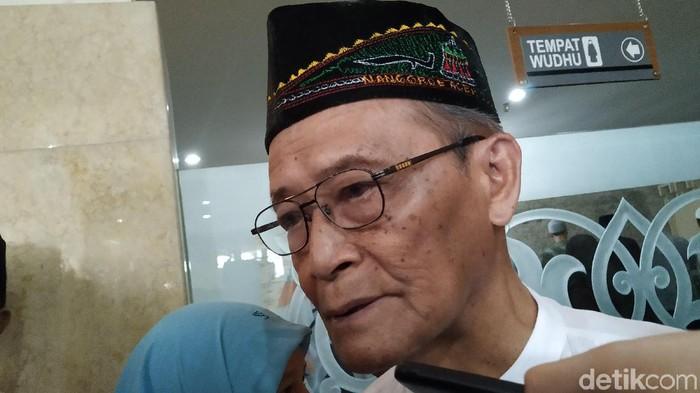 Buya Syafii Maarif di kantor PP Muhammadiyah, Yogyakarta, Jumat (3/1/2020).