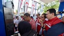 Persiapan Arus Balik, Ahok Tinjau SPBU di Tol Jakarta-Cikampek