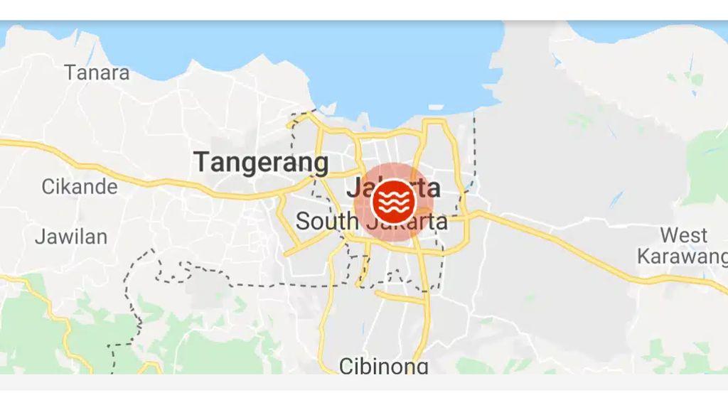 Cek Penutupan Jalan di Jakarta Akibat Banjir di Google Maps