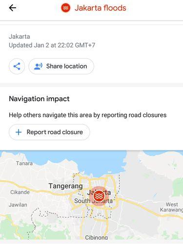 Google Maps Bikin Pantauan Khusus Banjir Jakarta