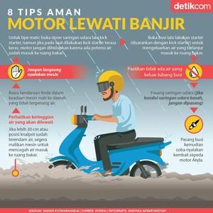 8 Tips Motor Lewati Banjir