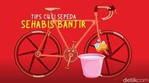 Tips Mencuci Sepeda yang Tergenang Banjir