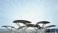 NP Gas Station di Spanyol ini terlihat minimalis. Seperti kepakan saya burung terbang di angkasa (Istimewa/qz.com)