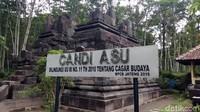 Inilah wujud Candi Asu di Magelang, Jawa Tengah. Jika diartikan dalam bahasa Indonesia, berarti Candi Anjing. Menariknya, tidak ada patung anjing di candi ini. (Eko Susanto/detikcom)