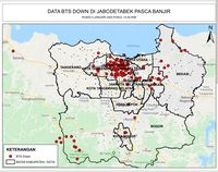 Pascabanjir Jabodetabak, Kominfo Sebut Tinggal 151 Site yang Down