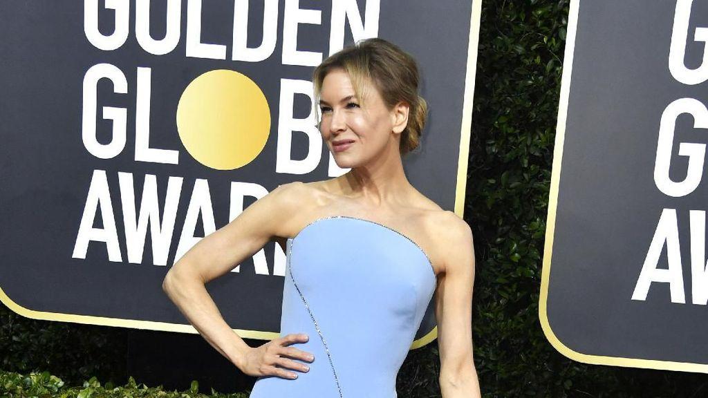 Foto: Usia 50, Paras Renee Zellweger Memukau di Golden Globes 2020