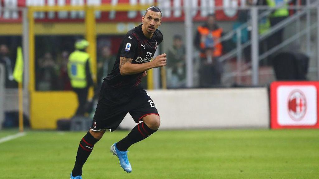 Statistik Zlatan Ibrahimovic: Lari 9,7 Km, Top Speed 32 Km/Jam
