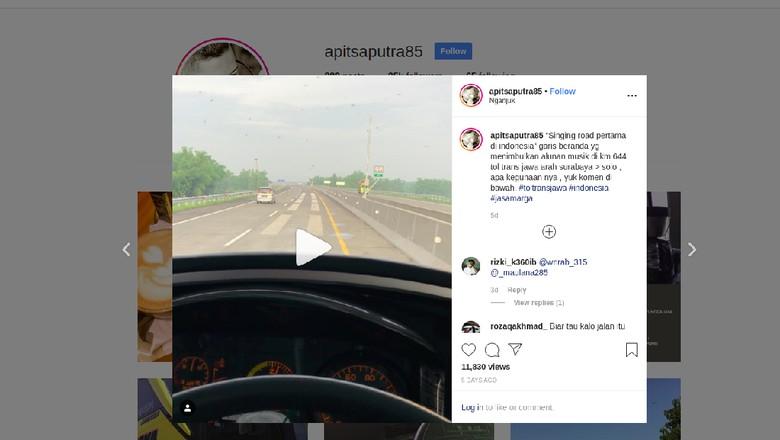 Foto: Screenshot Instagram apitsaputra85