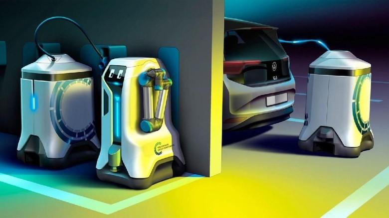 Robot mobile charging Foto: Volkswagen