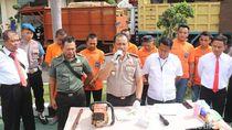 Enam Pembalak Liar Ditangkap, 43 Batang Kayu Jati Gelondongan Diamankan