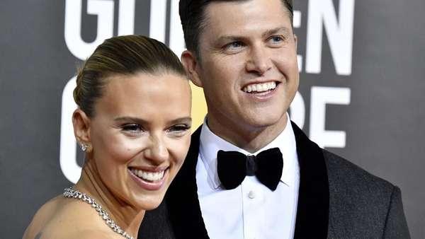 Scarlett Johansson dan Tunangan Ciuman di Golden Globe 2020