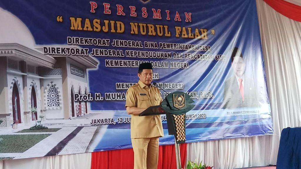 Resmikan Masjid Ditjen Dukcapil, Tito Harap Jadi Tempat Membangun Karakter