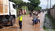 Banjir Rendam Jalan Cilegon-Bojonegara, Banyak Motor Mogok