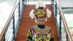 Gaya Menlu Retno Kenakan Pakaian Adat Kalbar saat Pidato Tahunan