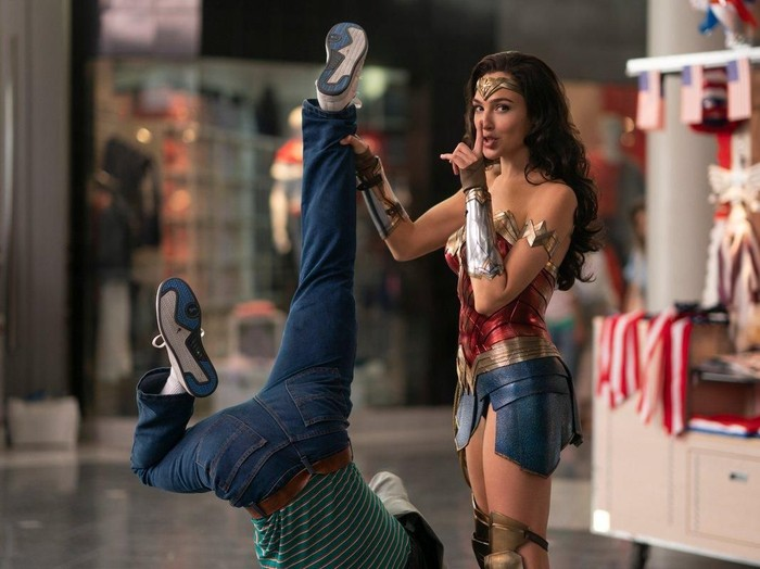 Gal Gadot di Wonder Woman 1984.